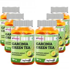 Buy St.Botanica Garcinia Green Tea 500mg Extract - 90 Veg Caps (Pack of 6) - Nykaa
