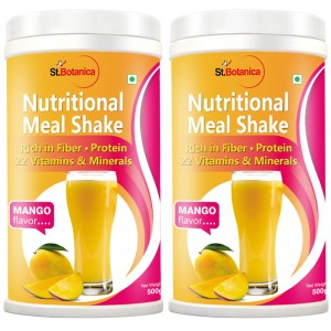 Buy St.Botanica Nutritional Meal Replacement Shake, Mango - 500g x 2 - Nykaa
