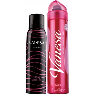 Buy Vanesa Kooky & Petal Deodorant Combo (Pack of 2) - Nykaa