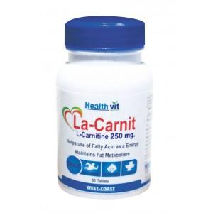 Buy HealthVit La-Carnit L-Carnitine 500 Mg 60 Capsules - Nykaa