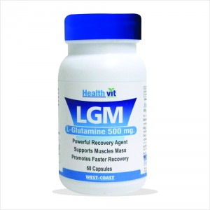 Buy HealthVit Lgm L-Glutamine 500 Mg 60 Capsules - Nykaa