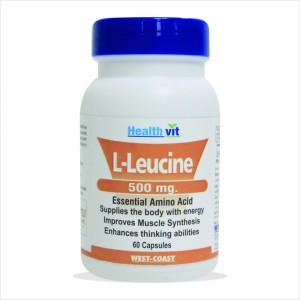 Buy HealthVit L-Leucine 500Mg 60 Capsules - Nykaa
