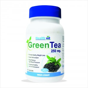 Buy HealthVit Green Tea 60 Capsules - Nykaa