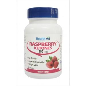 Buy HealthVit Pure Raspberry Ketones 250 Mg. 60 Capsules - Nykaa
