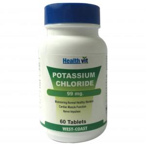 Buy HealthVit Potassium Chloride 99Mg 60 Tablets - Nykaa