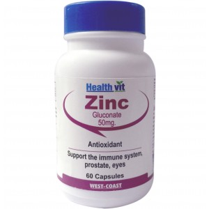 Buy HealthVit Zinc Gluconate 50Mg 60 Capsules - Nykaa