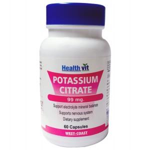 Buy HealthVit Potassium Citrate 99Mg 60 Capsules - Nykaa