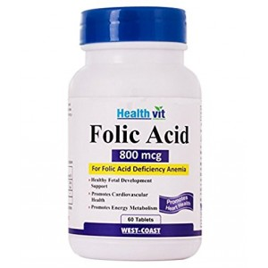 Buy HealthVit Folic Acid 800 Mcg 60 Tablets - Nykaa