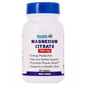 Buy HealthVit Magnesium Citrate 200 Mg 60 Capsules - Nykaa
