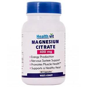 Buy HealthVit Magnesium Citrate 400 Mg 60 Capsules - Nykaa