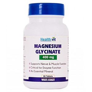 Buy HealthVit Magnesium Glycinate 400 Mg 60 Capsules - Nykaa