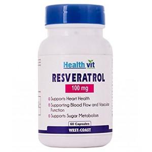 Buy HealthVit Resveratrol 100 Mg 60 Capsules - Nykaa