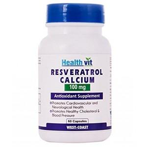 Buy HealthVit Resveratrol 100Mg Calcium 60 Capsules - Nykaa