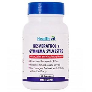 Buy HealthVit Resveratrol Plus With Gymnema Sylvestre 60 Capsules - Nykaa