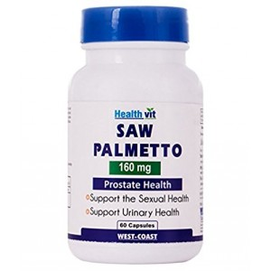 Buy HealthVit Saw Palmetto 160Mg 60 Capsules - Nykaa
