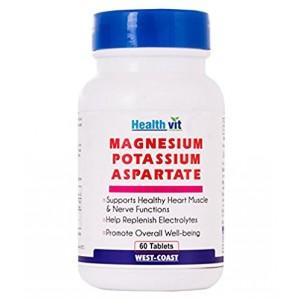 Buy HealthVit Magnesium Potassium Aspartate 60 Tablets - Nykaa