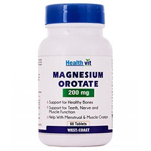 Buy HealthVit Magnesium Orotate 200 Mg 60 Tablets - Nykaa