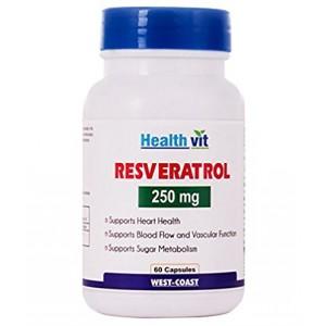 Buy HealthVit Resveratol 250 Mg 60 Capsules - Nykaa
