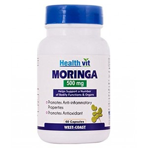 Buy HealthVit Moringa 500 Mg 60 Capsules - Nykaa