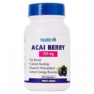 Buy HealthVit Acai Berry 250Mg 60 Capsules - Nykaa