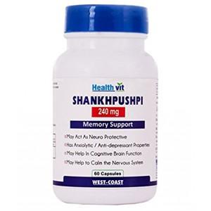 Buy HealthVit Shankhpushpi 240 Mg 60 Capsules - Nykaa
