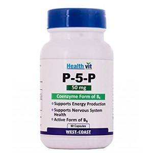 Buy HealthVit P-5-P 50 Mg Coenzyme Form Of B6 - 60 Capsules - Nykaa