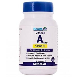 Buy HealthVit Vitamin A Dry 10000 IU 60 Capsules - Nykaa