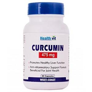 Buy HealthVit Curcumin 475Mg 60 Capsules - Nykaa