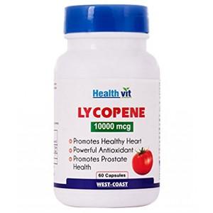 Buy HealthVit Lycopene 10000 Mcg 60 Capsules - Nykaa