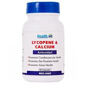 Buy HealthVit Lycopene & Calcium 60 Capsules - Nykaa