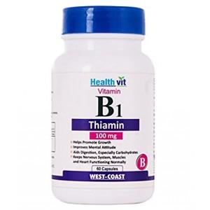 Buy HealthVit Vitamin B1 Thiamin 100Mg 60 Capsules - Nykaa
