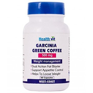 Buy HealthVit Garcinia Green Coffee 500Mg 60 Capsules - Nykaa