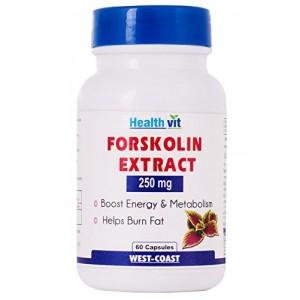 Buy HealthVit Forskolin Extract 250Mg 60 Capsules - Nykaa