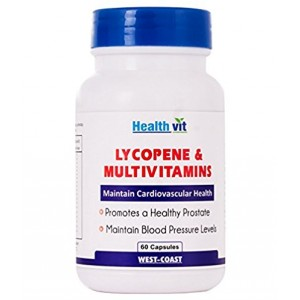 Buy HealthVit Lycopene & Multivitamins 60 Capsules - Nykaa