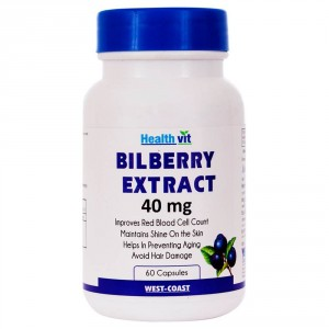 Buy HealthVit Bilberry Extract 40 Mg 60 Capsules - Nykaa