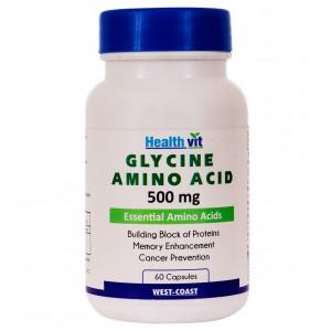 Buy HealthVit Glycine Amino Acid 500 Mg 60 Capsules - Nykaa