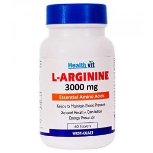 Buy HealthVit L-Arginine 3000 Mg 60 Tablets - Nykaa