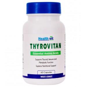 Buy HealthVit Thyrovitan Essential Amino Acids 60 Capsules - Nykaa