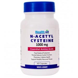 Buy HealthVit N-Acetyl Cysteine 1000 Mg 60 Tablets - Nykaa