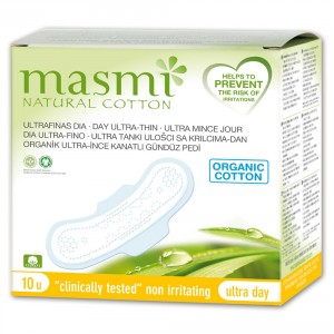 Buy Masmi Organic Sanitary Pads Day Wings Indvidually Wrapped - Nykaa