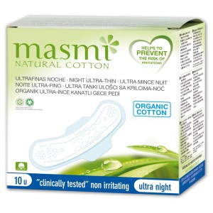 Buy Masmi Organic Sanitary Pads Night Wings Indvidually Wrapped - Nykaa
