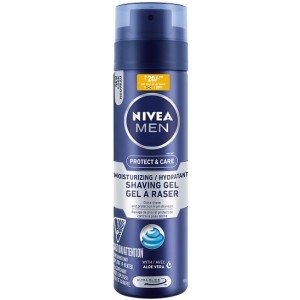 Buy Nivea Men Protect & Care Moisturizing Hydrating Shaving Gel (Rs.20/- Off) - Nykaa