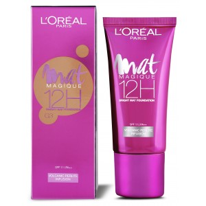 Buy L'Oreal Paris Mat Magique 12H Bright Mat Foundation - G3 - Nykaa