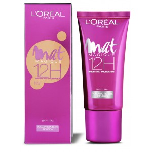 Buy L'Oreal Paris Mat Magique 12H Bright Mat Foundation - Nykaa