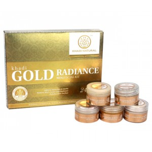 Buy Khadi Natural Gold Mini Facial Kit - Nykaa