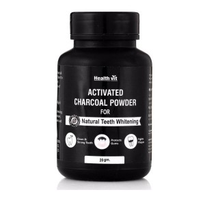 Buy HealthVit Activated Charcoal Powder For Natural Teeth Whitening - Nykaa