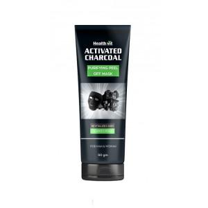 Buy HealthVit Activated Charcoal Purifying Peel Off Mask - Nykaa
