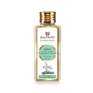 Buy Just Herbs Aglow Neem-Chandan Skin Purifying Face Cleanser - Nykaa