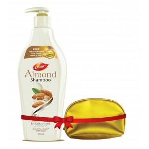 Buy Dabur Almond Intense Nourishing Shampoo + Free Gold Pouch - Nykaa