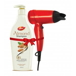 Buy Dabur Almond Intense Nourishing Shampoo + Free Hair Dryer - Nykaa